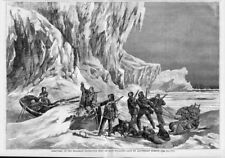 DOG SLEDS DISCOVERY OF THE FRANKLIN ARCTIC EXPEDITION BOAT SKELETAL REMAINS