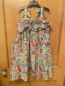 CHASING FIREFLIES SLEEVELESS GIRLS SIZE 8 FLORAL SUNDRESS DRESS EUC