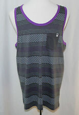 DC, Large, Gray/Purple Pinwheel Tank, New with Tags