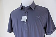 Puma Golf Shirt Mens Large Gray Short Sleeve Cool Cell Vented Gray NWT J10
