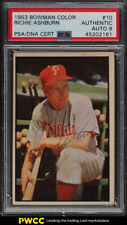 1953 Bowman Color Richie Ashburn PSA/DNA 8 AUTO #10 PSA 8 Auth (PWCC)