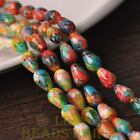 New 15pcs 12X8mm Teardrop Faceted Glass Loose Spacer Colorful Beads Ink Green