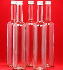 10 x 500 ml leere GLASFLASCHE BOR Schnapsflasche Essig/Öl Flasche  0,5 Liter l