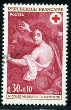 STAMP / TIMBRE FRANCE OBLITERE N° 1581  CROIX ROUGE L'AUTOMNE