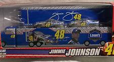 JIMMIE JOHNSON #48 Lowe's Two Car NASCAR 1:64 COT Stock Cars HAULER TIN SET