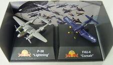 """p-38 """"Relámpago"""" y f4u-4"""" Corsair """",""""The Flying TOROS """",New Ray ,PREPARADO,NUEVO"""