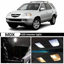 Acura MDX White Interior + License Plate LED Lights Package Kit + TOOL