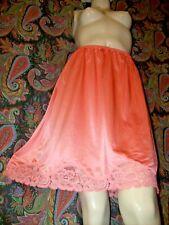 Vintage Vanity Fair Coral Silky Nylon Tricot Lacy A-line Half Slip M