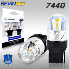 7440 W21W Yellow LED Backup Turn Signal Light Bulbs For Acura MDX RDX RL TSX ZDX