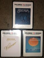 LOT OF 3 SEALED SANTANA  8-TRACK TAPES CARAVANSERAI BORBOLETTA WELCOME NEW LOOK!