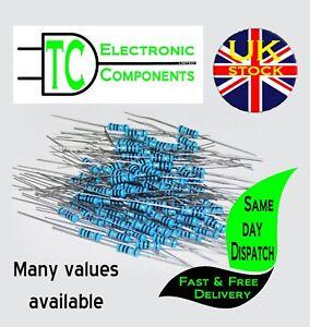 1/4W Metal Film Resistors 1% 186 values available (20 Pack) *UK Seller* Free P&P