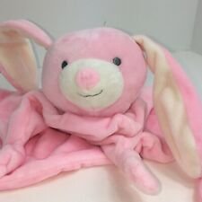 """The Peanutshell Lovey Security Blanket Bunny Rabbit Pink Baby Knotted Knots 10"""""""