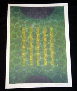 "02 Hawaii Woodcut Print 74/75 ""Vertical Light"" by Hiroki Morinoue (b.1947)(AHB)"