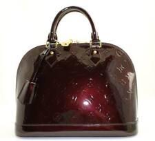 """AUTHENTICATED!! LOUIS VUITTON ALMA """"Amarante"""" Monogram Vernis PM Handbag"""