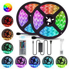 32.8ft LED Strip Lights 20 Colors SMD 5050 RGB Waterproof 44 Keys Remote Control