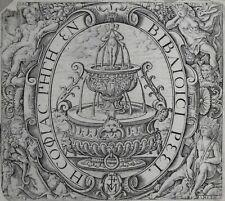 Paris MARQUE TYPOGRAPHIQUE Printer's Mark Gilles MOREL 1638 L GAULTIER Fontaine