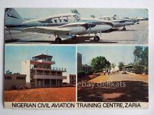 NIGERIA ZARIA Nigerian Civil Aviation aereo airplane AK old postcard