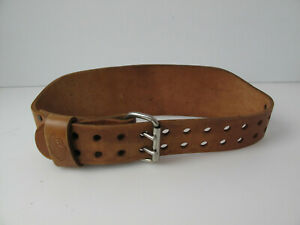 Vintage Altus 2 Prong Leather Weight Lifting Belt Size Small  24-28