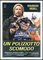 A Poliziotto Uncomfortable Manifesto Movie Cop Police Car 1978 Movie Poster 2F
