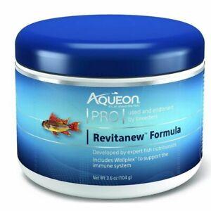 Aqueon Pro Revitanew Formula Medium Pellet Food 3.6oz Jar CLOSEOUT