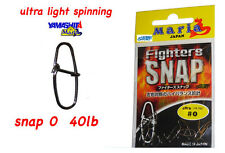 YAMASHITA ULTRA LIGHT SPINNING SNAP 0 -  40 LB FIGHTER SNAP 477191