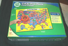Leap Frog USA Fun Facts Floor Puzzle + Decorder New Educational Homeschool