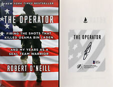 Robert O'Neill Authentic Signed The Operator Hard Cover Book Autographed BAS