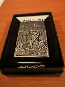 Zippo Lighter. Heavy Armoured Wolves Design From 2015. New, unused. With Box.
