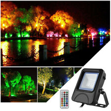 10W LED Foco Proyector De Reflector Sensor Movimiento RGB Luz con Control Remoto