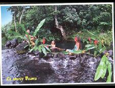 TAHITI (POLYNESIE) BAIGNADE à la SOURCE VAIMA