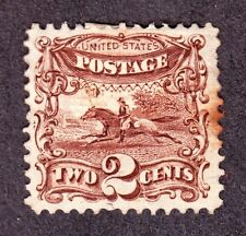 Us 113 2c Post Horse and Rider Mint F-Vf appr Og H Scv $550