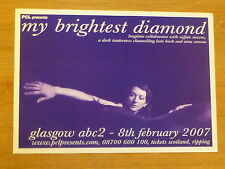 My Brightest Diamond - Glasgow feb.2007 tour concert gig poster