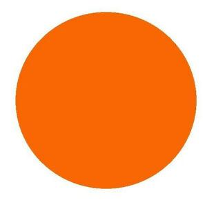 Circular Glass Worktop Saver - Orange - 30cm Diameter Round Worktop Saver