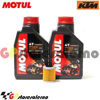 TAGLIANDO OLIO + FILTRO MOTUL 7100 10W50 KTM 450 EXC 2006