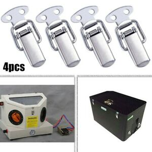 4x Spring Loaded Suitcase Chest Tool Box Locking Hasp Lock Toggle Latch Hardware