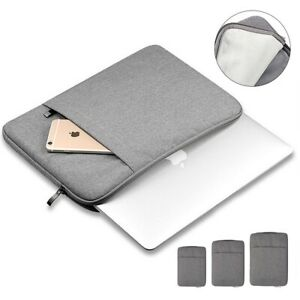 Laptop Bag Sleeve Case Carry Cover 2 Pockets For Apple Mac Book 11 13 15 Inch