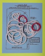 1977 Williams Liberty Bell pinball rubber ring kit
