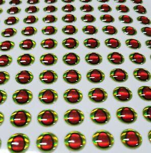 3D Lure Eye Self Stick red/green