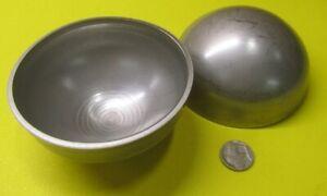 "304 Stainless Steel Half Sphere / Balls 4.0"" Diameter x 2.00"" Height, 2 Pieces"