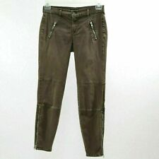 J Brand Skinny Jeans Agnes Pants W27 L28 Olive Stretch Twill Brown Ankle Zipper