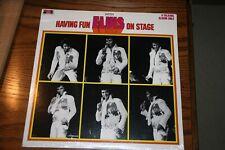 ELVIS PRESLEY VINYL LP HAVING FUN WITH ELVIS ON STAGE SEALED boxcar