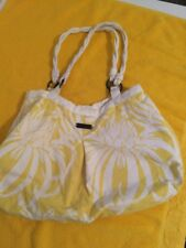 O'NEILL Yellow Flower Bucket Purse SHOULDER BAG Carry All Tote Women's