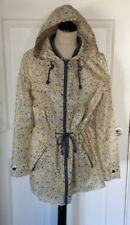 NEXT .. PAC AWAY MAC / RAIN COAT .. LEMON FLORAL .. ZIPPED POCKETS .. UK SIZE 12