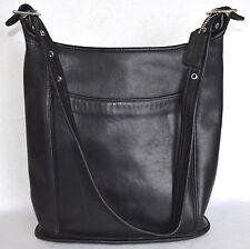 VTG Coach Legacy 9060 Slim Duffle Sac Bucket Shoulder Bag Black Leather Purse