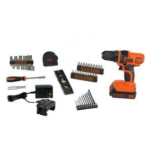 Black and Decker LDX50PK 20-Volt MAX Cordless Lithium-Ion Drill Tool Set - 44pc
