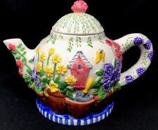 Spring  FLOWER POTS & ROSES TEA POT Collectible Flowers Inc. Balloons Ceramic