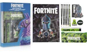 Fortnite Stationery Set Colouring Pencil Case Ruler Sharpener Eraser Kids Gift