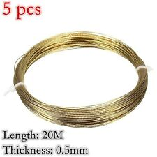 Gold 5 x20M Autos Windscreen Window Glass Cutting Out Braided Removal Wire 0.5mm