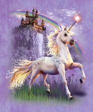 Unicorn Castle Horse Signature Queen Blanket Faux Mink Quality
