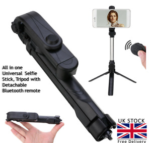 360° Telescopic Selfie Stick Bluetooth Tripod Monopod Holder For Phone New
